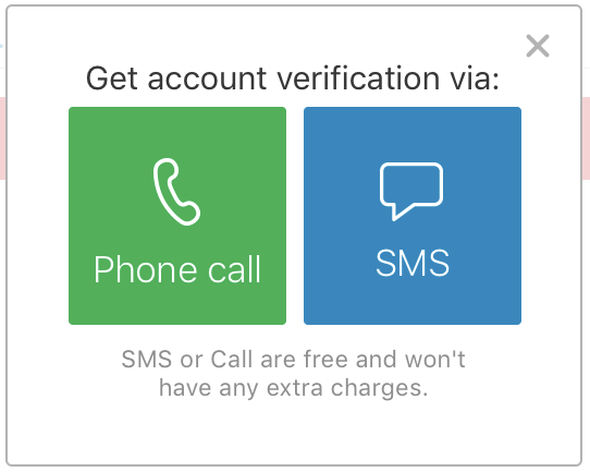 Authy Setup - Call or SMS verification