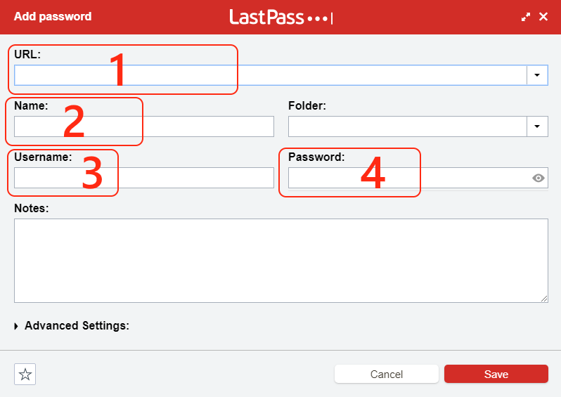 Google Chrome LastPass add password