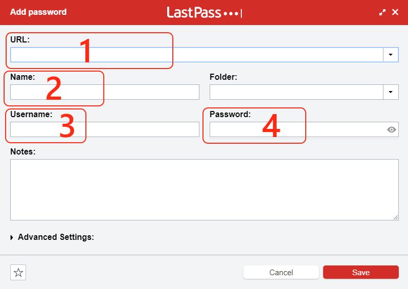 Google Chrome LastPass add password