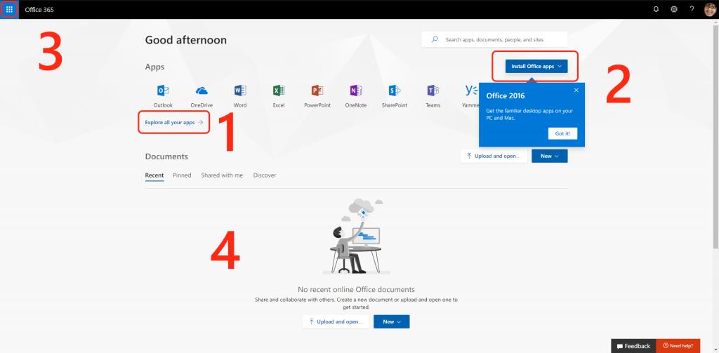Office 365 Portal (Aug 2018)