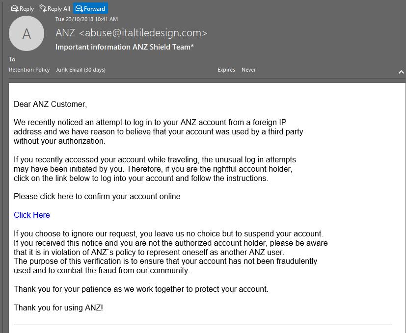 Recent email security threats – Sentrian Help